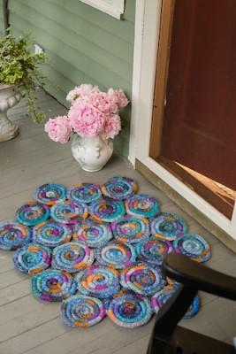 Stained Glass Rug, free crochet pattern by Jennifer Raymond.