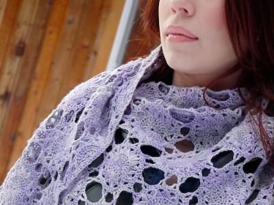 Sunburst Shawl, crochet pattern by Jennifer Raymond. Photo (c) Brittany Tyler.