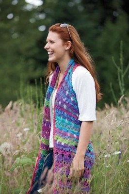 Amelia Broomstick Lace Long Vest, crochet pattern by Tammy Hildebrand for sale on Craftsy.