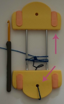 The top clip is very stable and keeps your loops on the tool when you're doing hairpin lace on the go. The whole.