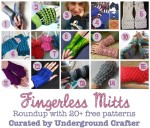 Fingerless Mitts crochet pattern roundup by Underground Crafter includes over 20 free crochet patterns