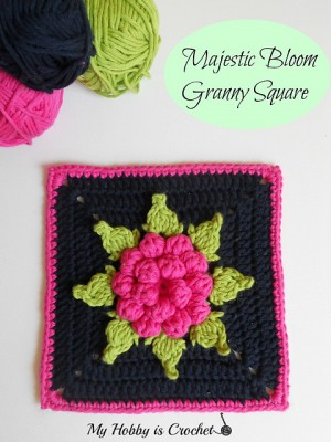 Majestic Bloom Granny Square, free crochet pattern and tutorial by Kinga Erdem.