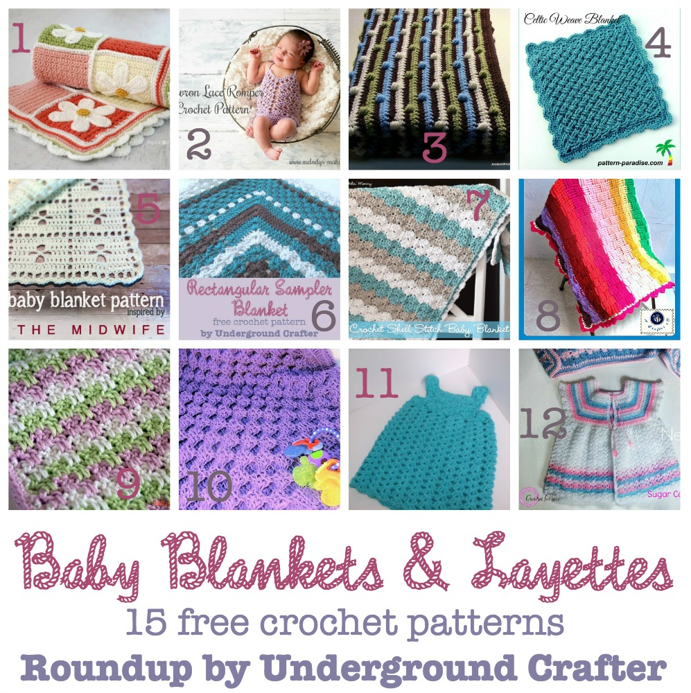 Roundup of 15 free #crochet patterns for baby blankets & layettes on @ucrafter