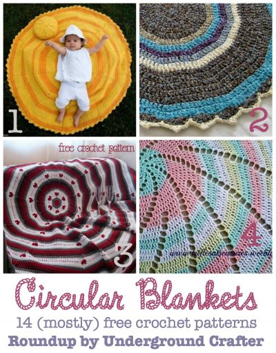 Roundup of 14 (mostly) free #crochet patterns for circular blankets on @ucrafter