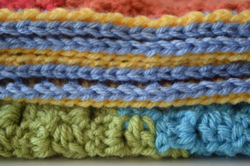 Diagonal Rainbows Baby Blanket, free #crochet pattern by @ucrafter