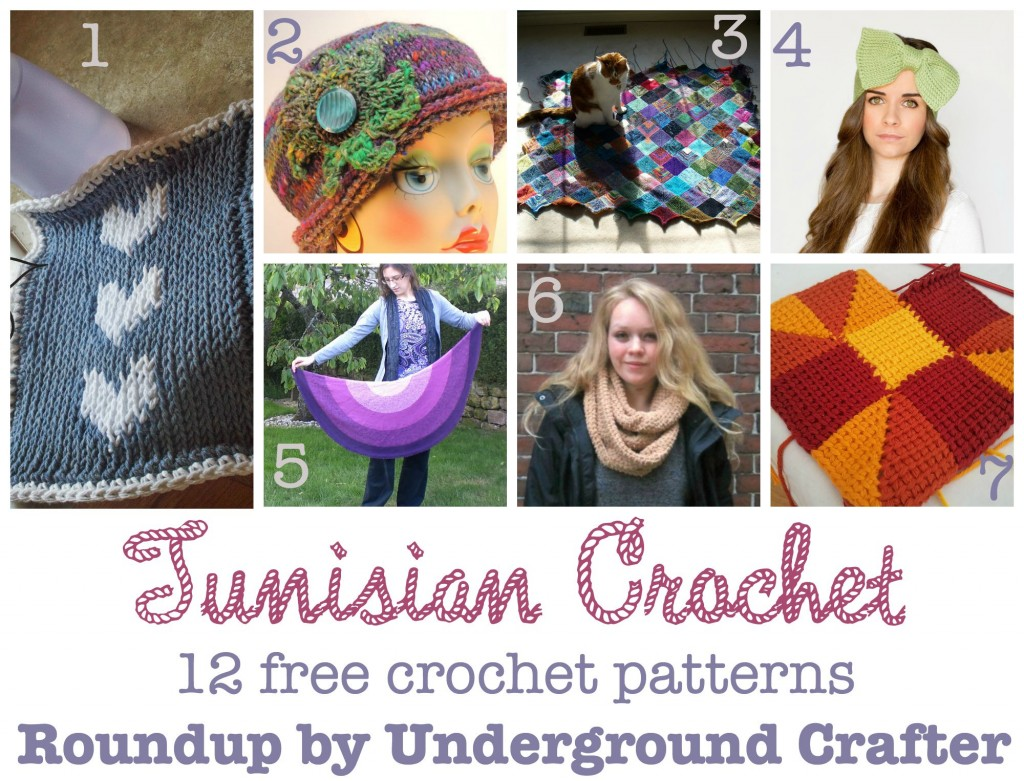 Roundup of 12 free Tunisian #crochet patterns, curated by @ucrafter