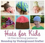 Hats for Kids #roundup of 12 free #knitting patterns, curated by @ucrafter