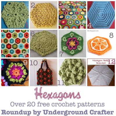 Roundup of 20+ free #crochet patterns with hexagons on @ucrafter