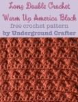 Long Double Crochet Warm Up America Block, free #crochet pattern by Marie Segares @ucrafter