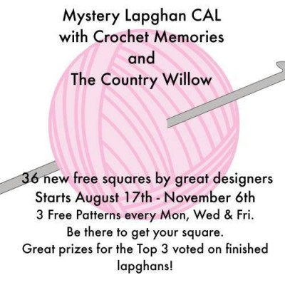 "Mystery Lapghan Crochet-a-long featuring 29 #crochet designers and 36 free patterns for 6"" (15 cm) squares. Join the Facebook group at https://www.facebook.com/groups/488215101349495/"