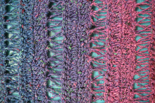 Peacock Stitch Shawlette, free broomstick lace #crochet pattern by Marie Segares @ucrafter