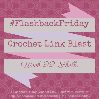 Roundup of 15 free crochet patterns featuring shell stitches #FlashbackFriday #linkblast