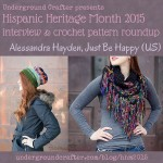 Interview with crochet designer, Alessandra Hayden from Just Be Happy Crochet, and crochet pattern roundup on Underground Crafter