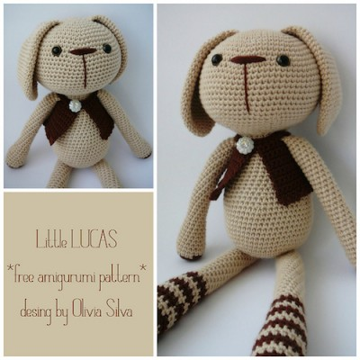 Little Lucas, free crochet pattern in English and Spanish with detailed progress photos by Pitusas y Petetes.