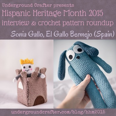 Interview with crochet designer, Sonia Gallo from El Gallo Bermejo and crochet pattern roundup on Underground Crafter
