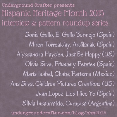Underground Crafter's 2015 Hispanic Heritage Month crochet and knitting designer interview series