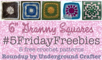 "#5FridayFreebies #Roundup of free #crochet patterns for 6"" (15 cm) granny squares on Underground Crafter"