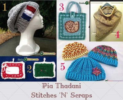 #HolidayStashdownCAL2015 Designer spotlight: Mini interview with Pia Thadani/Stitches 'N' Scraps, roundup of free crochet patterns, and giveaway!