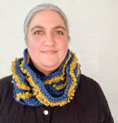 Valiant Stripes Scarf, free #crochet pattern by Marie Segares/Underground Crafter
