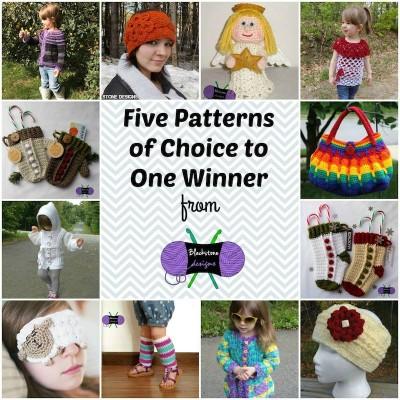 Win 5 free Blackstone Designs crochet patterns! #giveaway #HolidayStashdownCAL2015