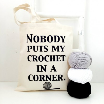 #Crochet project bag by Kelly Connor Designs on Etsy