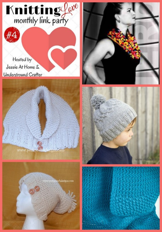 Knitting Love Link Party 4 (December, 2015) with Jessie At Home and Underground Crafter | Featured link roundup.