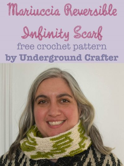 Mariuccia Reversible Infinity Scarf, free #crochet pattern by Marie Segares/Underground Crafter