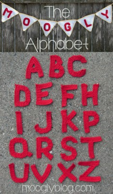 Moogly Crochet Alphabet, a free crochet pattern available here.
