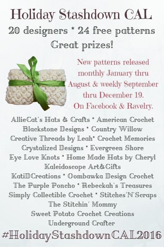 Announcing the Holiday Stashdown crochet-a-long 2016! #HolidayStashdownCAL2016