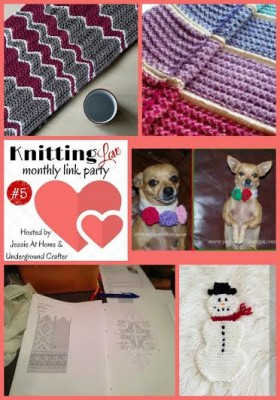 Knitting Love Link Party #5 - January, 2016 with Jessie At Home and Underground Crafter