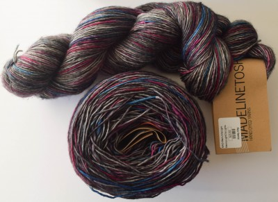 Knitty City Lights, an exclusive Madelinetosh colorway available at my local yarn shop, Knitty City.