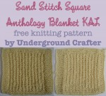 Sand Stitch Square, free #knitting pattern by Underground Crafter | Anthology Blanket KAL