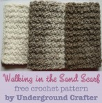 Walking in the Sand Scarf, free unisex #crochet pattern by Marie Segares/Underground Crafter in Lion Brand Scarfie