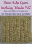 Garter Ridge Square, free #knitting pattern by Underground Crafter | Anthology Blanket knit-a-long