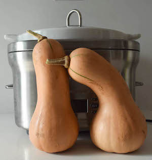 How to cook butternut squash in the slow cooker tutorial by Underground Crafter