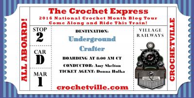 Crochetville Crochet Express Blog Tour Destination: Underground Crafter #natcromo