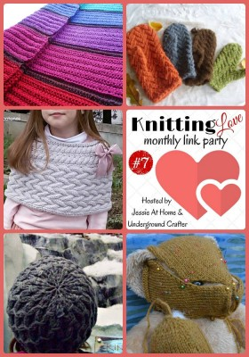 Knitting Love Link Party #7 March, 2016 with Jessie At Home & Underground Crafter