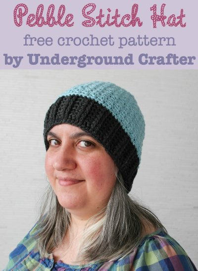 Pebble Stitch Hat, free #crochet pattern by Underground Crafter in Cloudborn Superwash Merino Worsted Twist #yarn