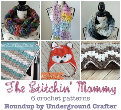 Roundup: 6 #crochet patterns by The Stitchin' Mommy, curated by Underground Crafter #HolidayStashdownCAL2016