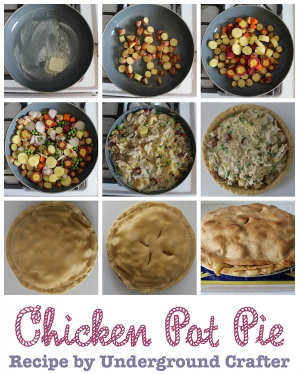 Chicken Pot Pie #recipe by Underground Crafter