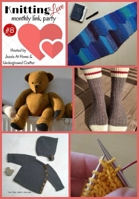 Featured posts from Knitting Love Link Party #8 with Jessie At Home and Underground Crafter