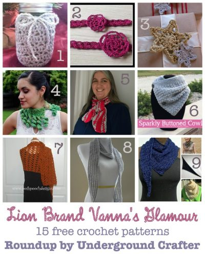 Roundup: 15 free #crochet patterns in Lion Brand Vanna's Choice yarn, curated by Underground Crafter
