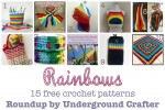 Roundup: 15 free crochet patterns featuring rainbow colors, curated by Underground Crafter