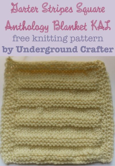 """Garter Stripes Square, free #knitting pattern by Underground Crafter 