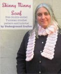 Skinny Minny Scarf, free double-ended Tunisian crochet pattern and tutorial by Underground Crafter