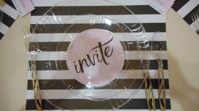 Place settings at the dinner sponored by Chinet | Snap! conference 2016 wrap up on Underground Crafter