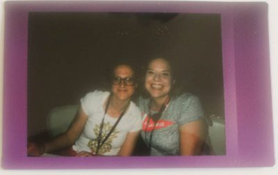 Brittany from Whistle & Ivy and Alexis from Persia Lou, bravely posing for my first Instax photo | Snap! conference 2016 wrap up on Underground Crafter