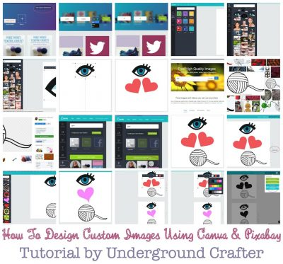How To Design Custom Images Using Canva and Pixabay | Eye Heart Yarn (I Love Yarn) Mug Tutorial by Underground Crafter