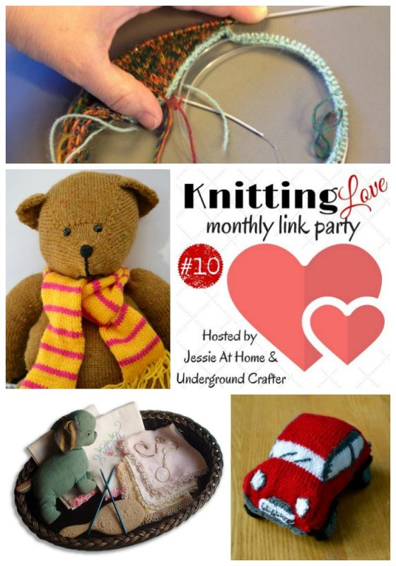 Knitting Love Link Party #10 June, 2016 - Share your latest knitting projects, WIPs, patterns, and tips with Underground Crafter and Jessie At Home! Including featured projects by Constricktions, Knitting | Work in Progress, and Ginx Craft.