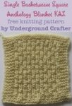 Single Basketweave Square, free knitting pattern by Underground Crafter | Anthology Blanket KAL